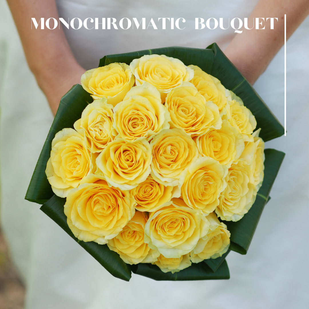monochromatic yellow wedding bouquet