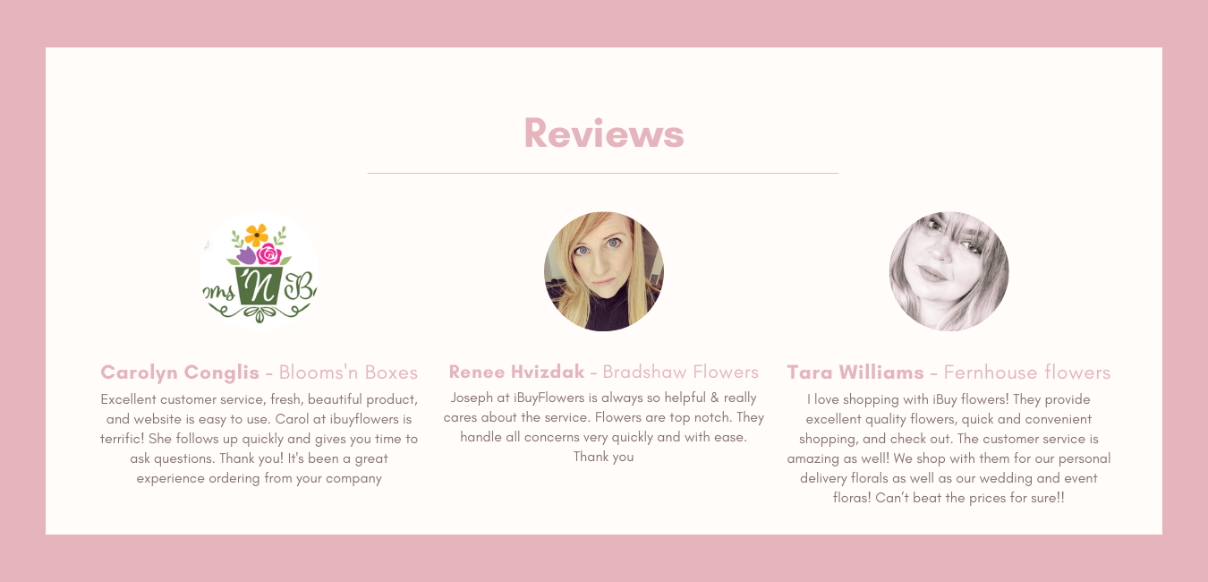 Reviews try out box page