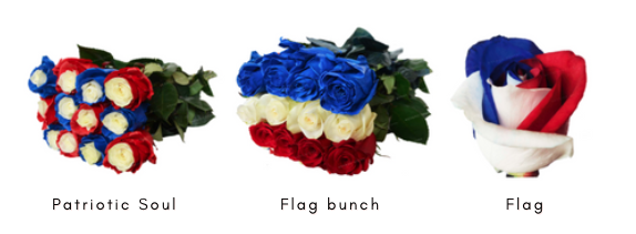 tinted memorial day flowers wholesale