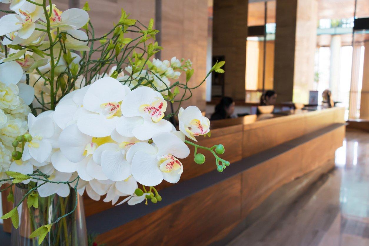 Flowers hotel lobby