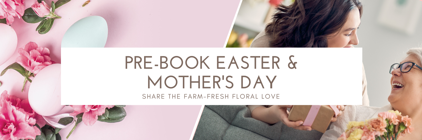 prebook easter & mothers day email header
