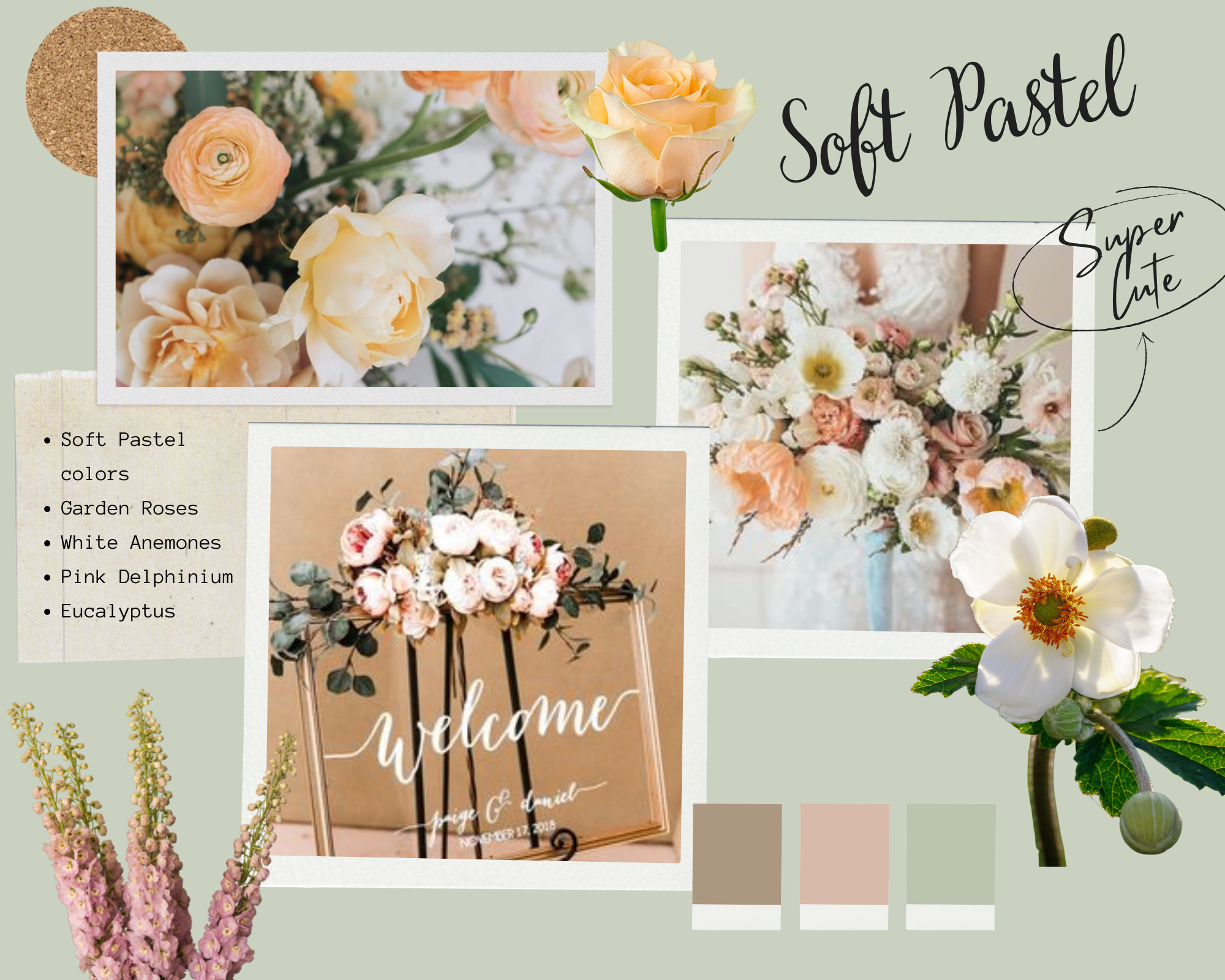 soft pastel colors moodboard